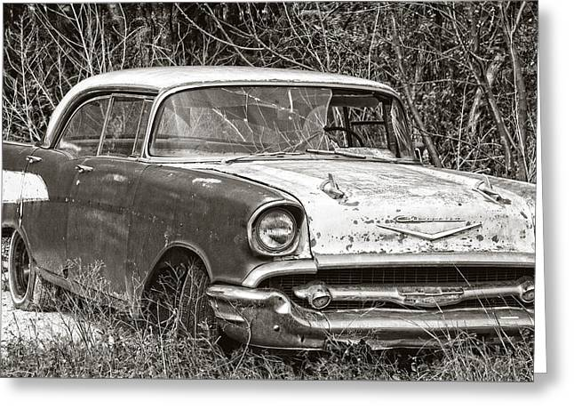 Old Street Greeting Cards - Old Chevy Greeting Card by Edwin A Rivers