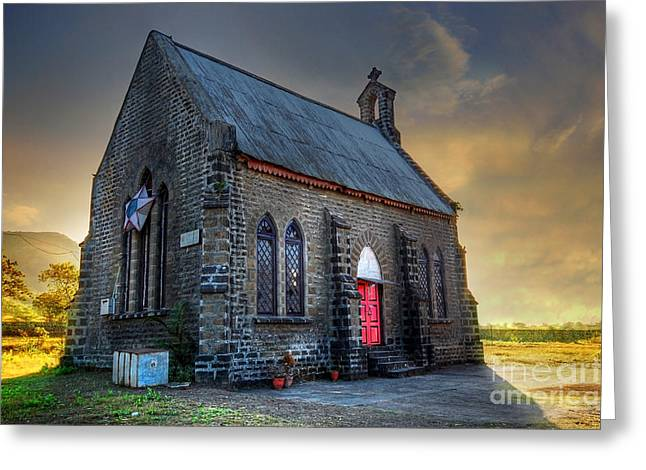 Church Greeting Cards - Old Church Greeting Card by Charuhas Images