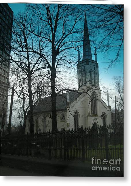 Halifax Greeting Cards - Old Church Greeting Card by Deborah MacQuarrie