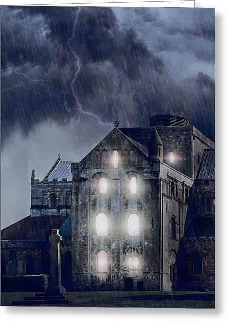 Cloister Greeting Cards - Old Church Greeting Card by Joana Kruse