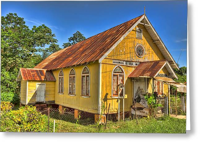 Tin Roof Greeting Cards - Old Church Greeting Card by Nadia Sanowar