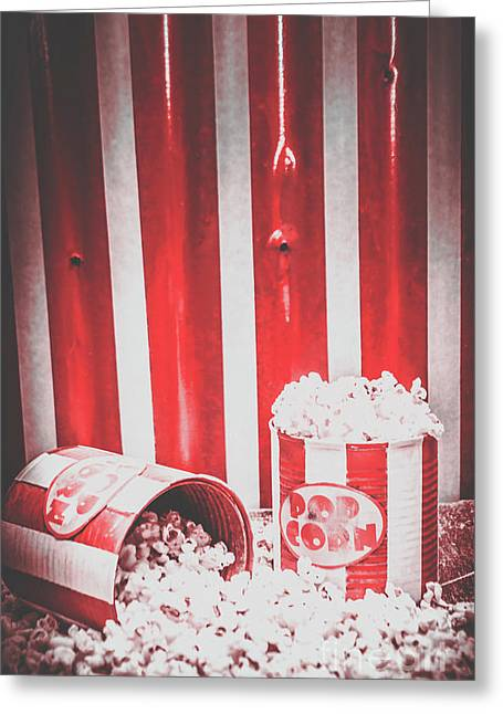 Old Cinema Pop Corn Greeting Card by Jorgo Photography - Wall Art Gallery
