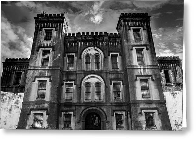 Building. Home Greeting Cards - Old City Jail Greeting Card by Drew Castelhano