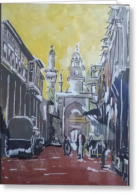 Old City  Greeting Card by Zeyad Ibraheem
