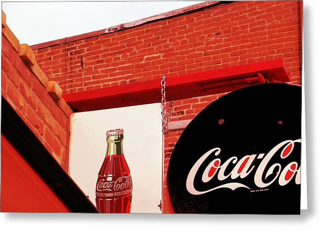 Michelle Mixed Media Greeting Cards - Old Coke Greeting Card by Michelle Frizzell-Thompson
