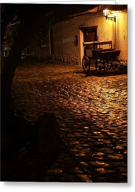 Colombia Greeting Cards - Old Colonial Street Greeting Card by Jess Kraft