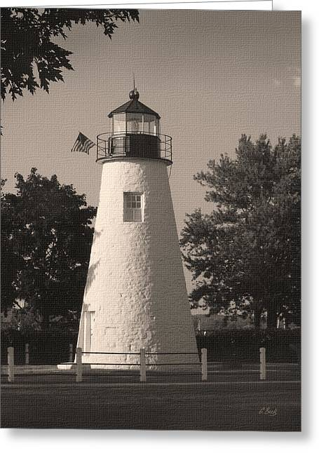 Old Concord Point Light Greeting Card by Gordon Beck