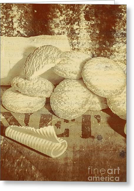 Old Cookie Tin Sign Art Greeting Card by Jorgo Photography - Wall Art Gallery
