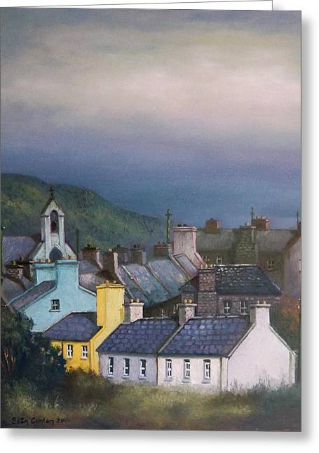 Old Copper Mining Town Greeting Card by Sean Conlon