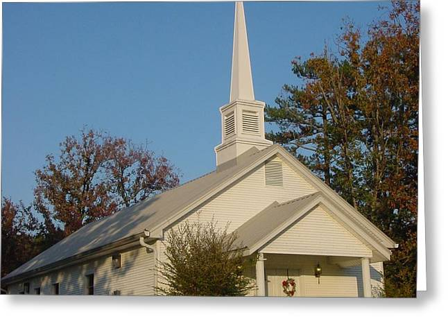 Old Country Church Greeting Card by Kathy Bucari