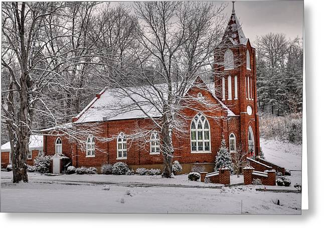 Country Church Greeting Cards - Old Country Church Greeting Card by Todd Hostetter