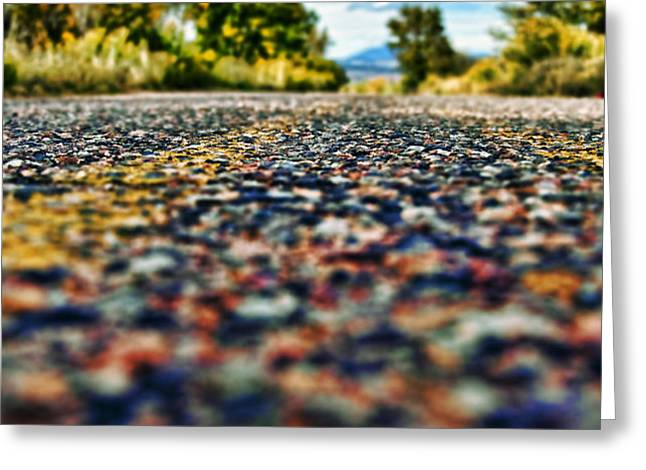 Old Country Road Greeting Card by Ray Laskowitz - Printscapes