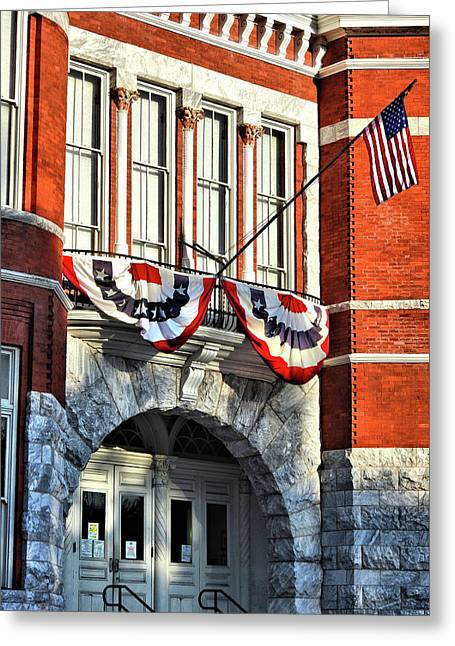 Old Court House Loyalty Greeting Card by Laura Ragland