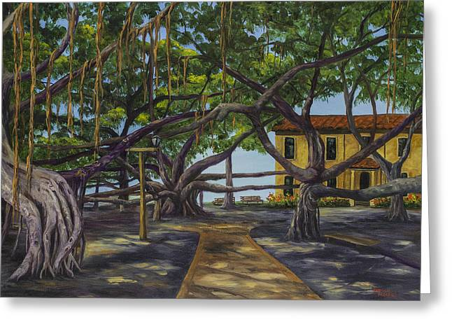 Lahaina Greeting Cards - Old Courthouse Maui Greeting Card by Darice Machel McGuire