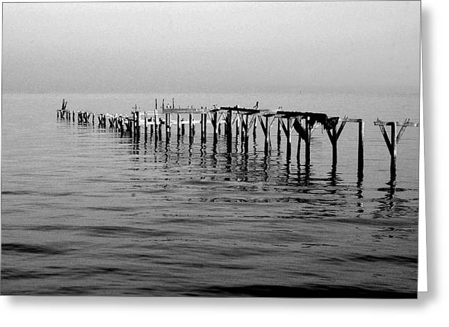Orange Beach Greeting Cards - Old Dock  Greeting Card by Michael Thomas