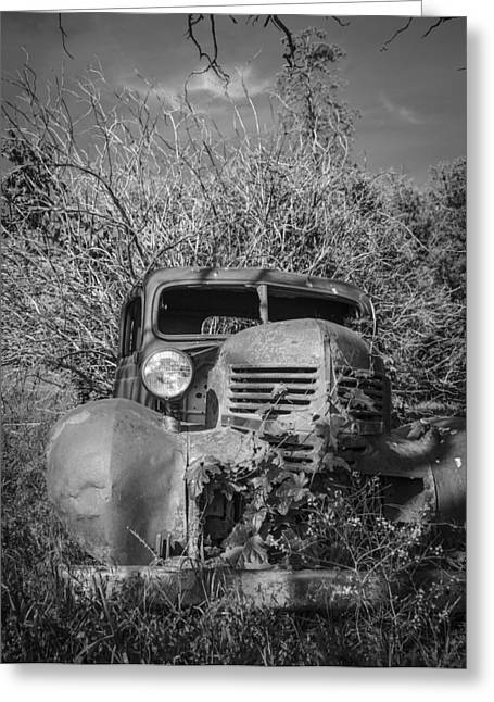 Recently Sold -  - Rusted Cars Greeting Cards - Old Dodge Greeting Card by Brent Magill