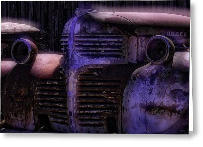 Rubbish Greeting Cards - Old Dodge Greeting Card by Garry Gay