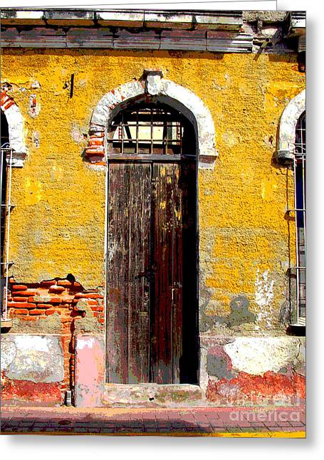 Portal Greeting Cards - Old Door 2 by Darian Day Greeting Card by Olden Mexico