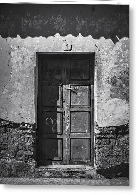 Old Door Ahuachapan 1 Greeting Card by Totto Ponce