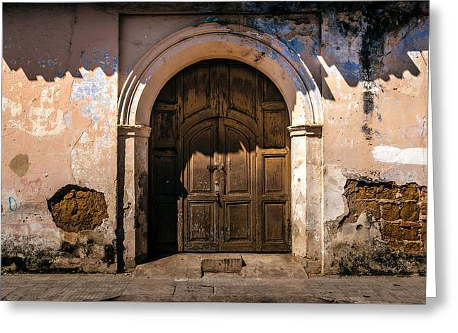 Old Door Ahuachapan  Greeting Card by Totto Ponce