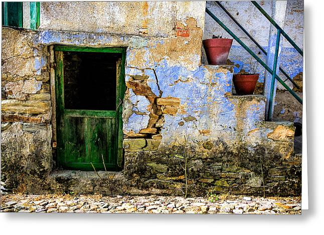Old Door Greeting Cards - Old Door in Portugal Greeting Card by Marion McCristall