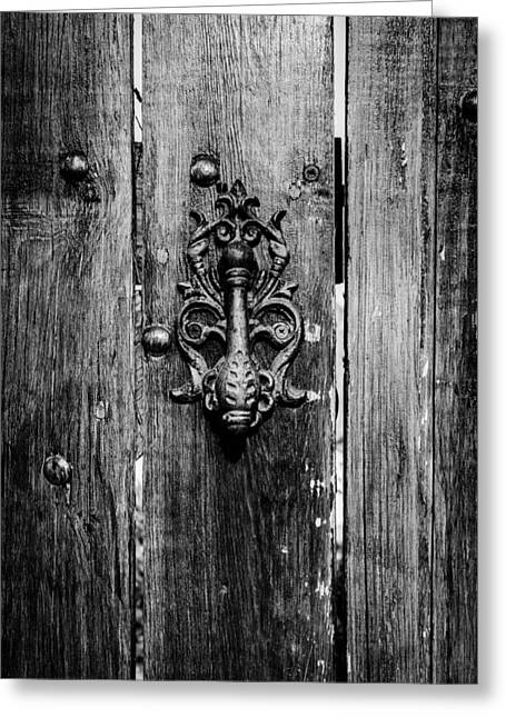 Old Door Knob Greeting Card by Marco Oliveira