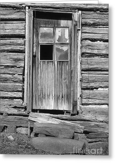 Knob Greeting Cards - Old Door Greeting Card by Richard Rizzo