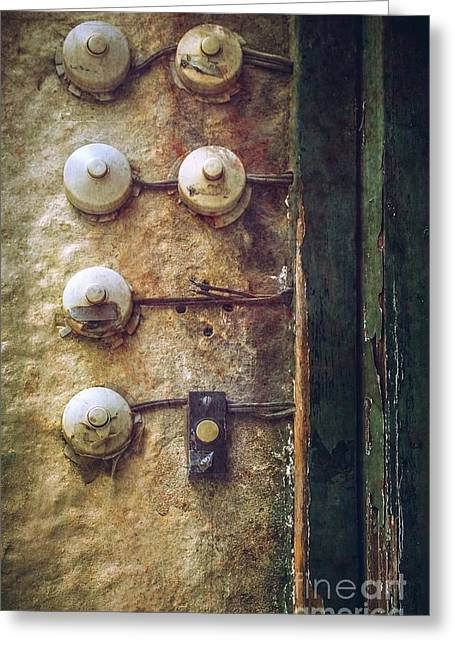 Destroyed Greeting Cards - Old Doorbells Greeting Card by Carlos Caetano