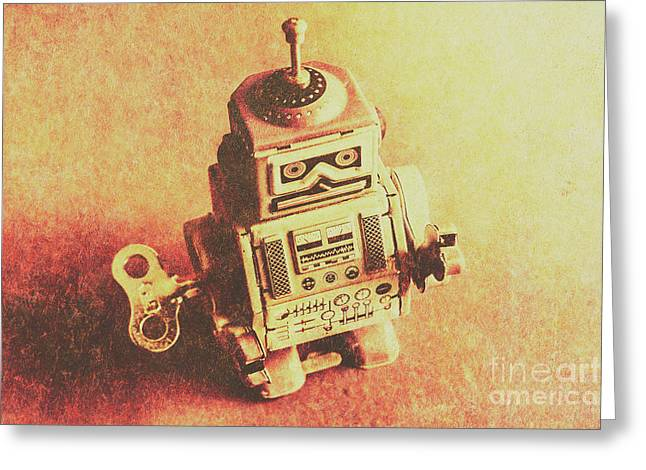 Old Electric Robot Greeting Card by Jorgo Photography - Wall Art Gallery