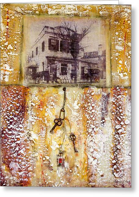 Grocery Store Mixed Media Greeting Cards - Old Family Store Charleston SC Encaustic Greeting Card by Bellesouth Studio