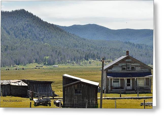 Outbuildings Greeting Cards - Old Farm Buildings Greeting Card by Kae Cheatham