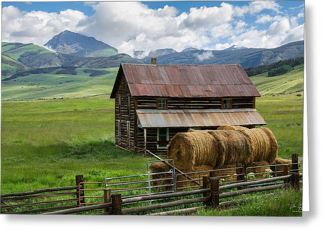 Old Barns Greeting Cards - Old Farm House and Teocalli Mountain Greeting Card by Aaron Spong