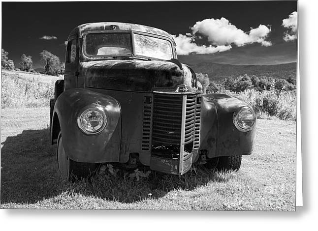 Old Farm Truck Infrared Greeting Card by Edward Fielding