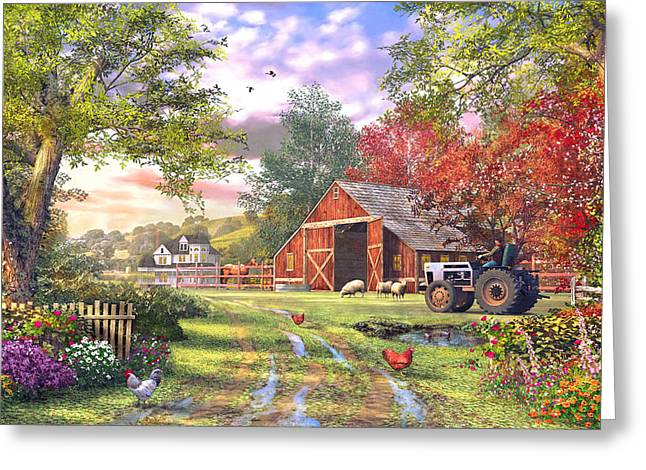 Horizontal Digital Art Greeting Cards - Old Farmhouse Greeting Card by Dominic Davison