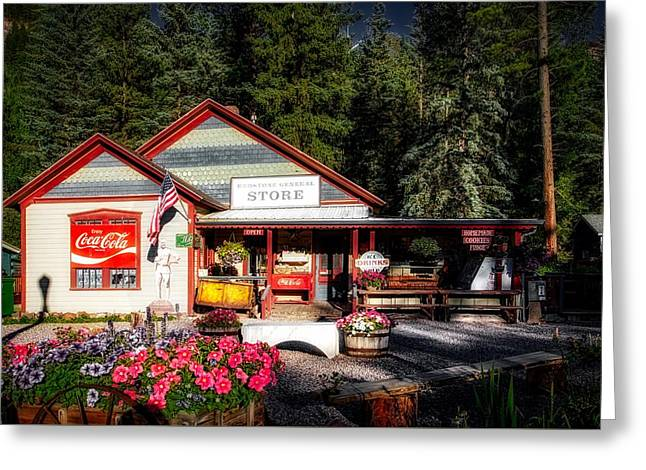 Old Fashioned General Store Greeting Card by Mountain Dreams