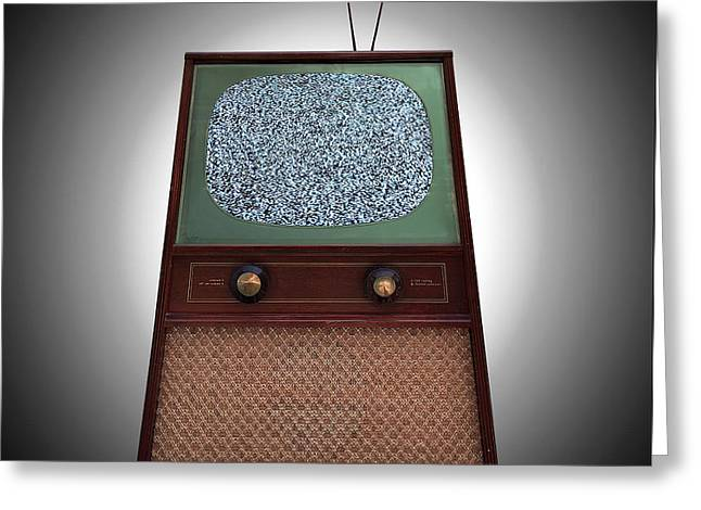 Television Greeting Cards - Old Fashioned Television Greeting Card by Diane Diederich