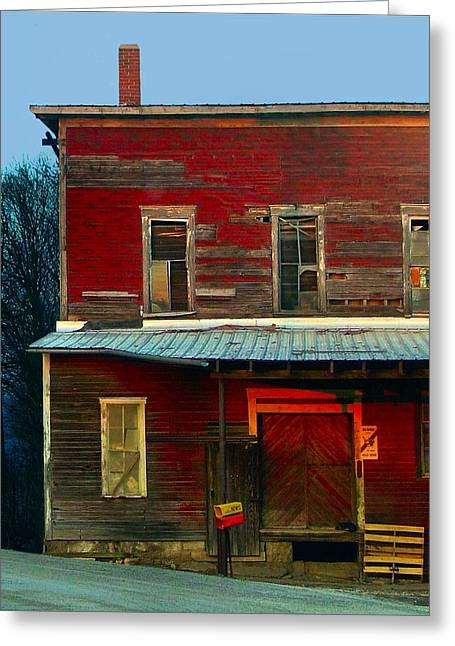 Julie Riker Dant ography Photographs Greeting Cards - Old Feed Mill in the Afternoon Greeting Card by Julie Dant