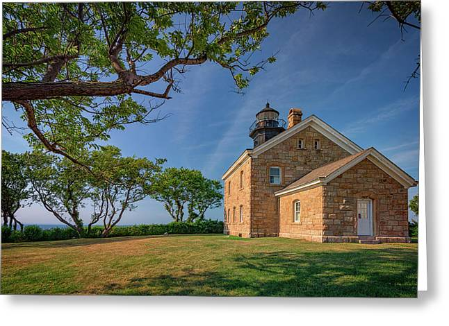 Old Field Point Greeting Card by Rick Berk
