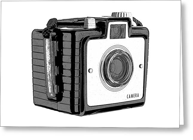 Camera Greeting Cards - Old Film Camera T-shirt Greeting Card by Edward Fielding