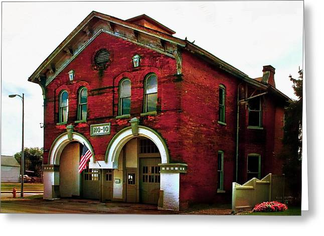 Old Firehouse No. 10 Greeting Card by Julie Dant