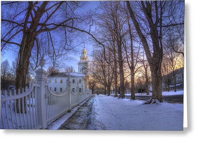 New England Snow Scene Greeting Cards - Old First Church - Bennington Vt. Greeting Card by Joann Vitali