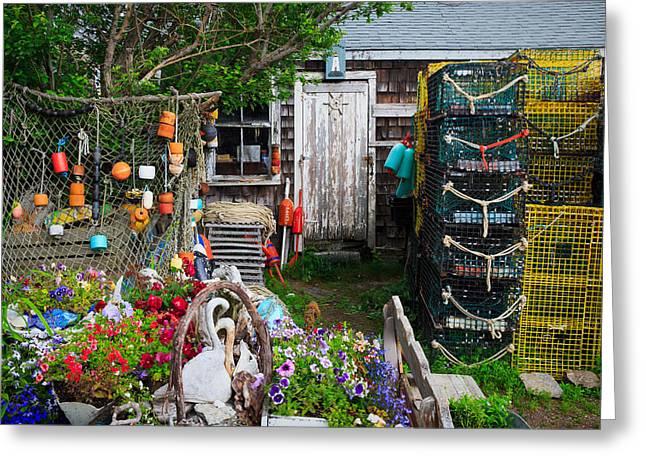 Old Fishing  House 2 Greeting Card by Emmanuel Panagiotakis