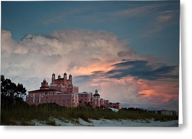 St. Petersburg Florida Greeting Cards - Old Florida Hotel Greeting Card by Patrick  Flynn