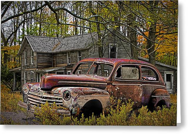 Old Ford Coupe Greeting Card by Randall Nyhof