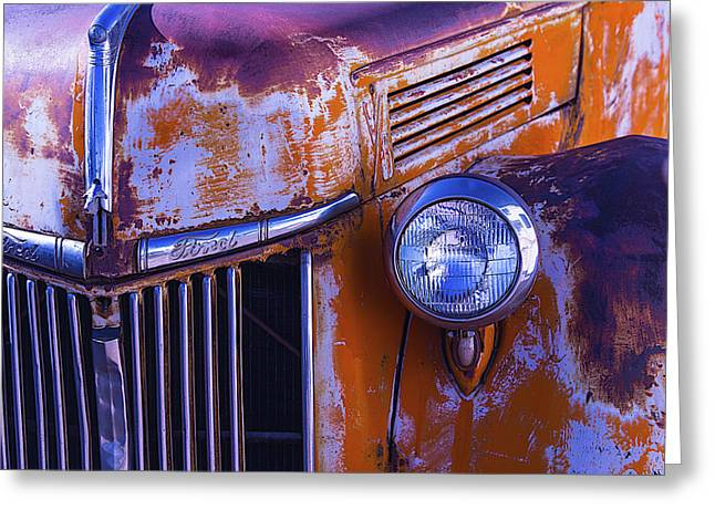 Pickup Truck Door Greeting Cards - Old Ford Pickup Greeting Card by Garry Gay