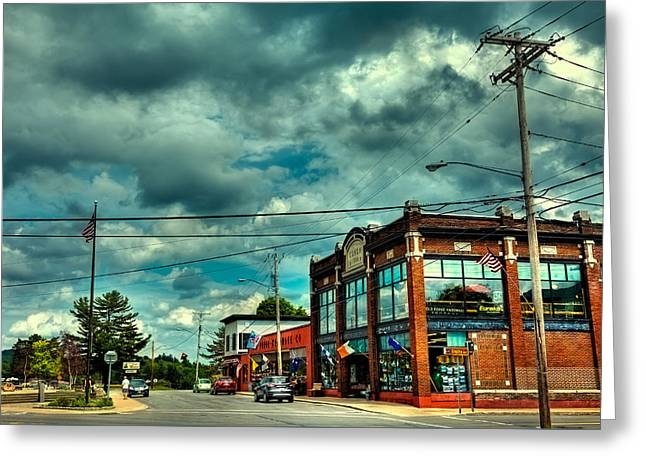 Old And New Greeting Cards - Old Forge Hardware - Town of Webb NY Greeting Card by David Patterson