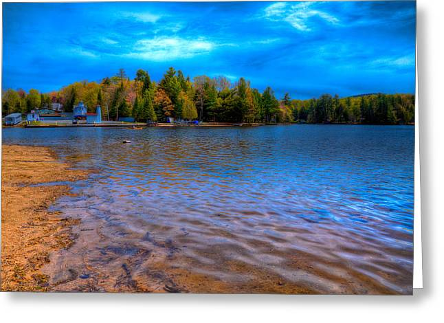 Old Forge Greeting Cards - Old Forge Pond During the 2015 Paddlefest Greeting Card by David Patterson