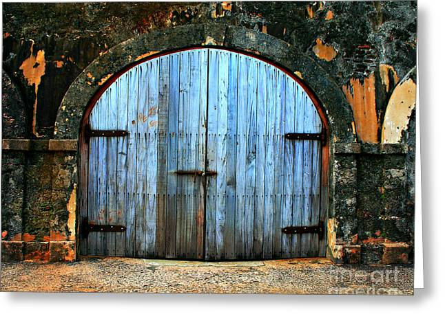 Old Fort Doors Greeting Card by Perry Webster