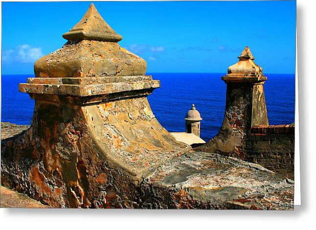 Old Fort Puerto Rico Greeting Card by Perry Webster