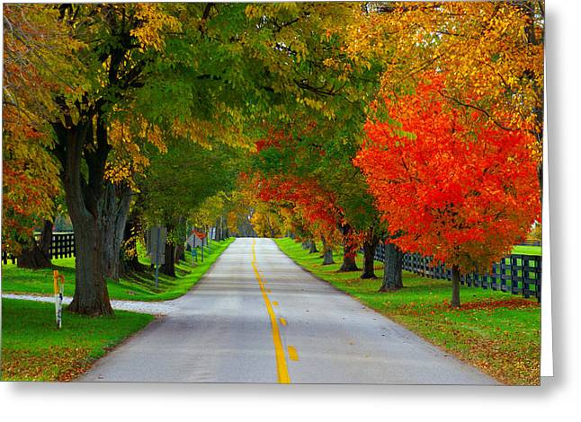 Backroads Greeting Cards - Old Frankforts Amber Hue Greeting Card by Wayne Stacy